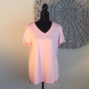 Isaac Mizrahi Live V-Neck Short Sleeve Top